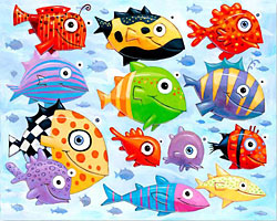 F. Frank new fish art.